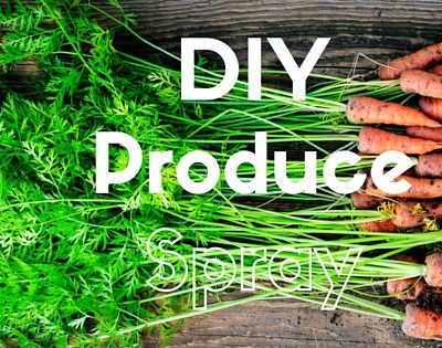 All natural DIY: produce spray for cleaner fruits and veggies.