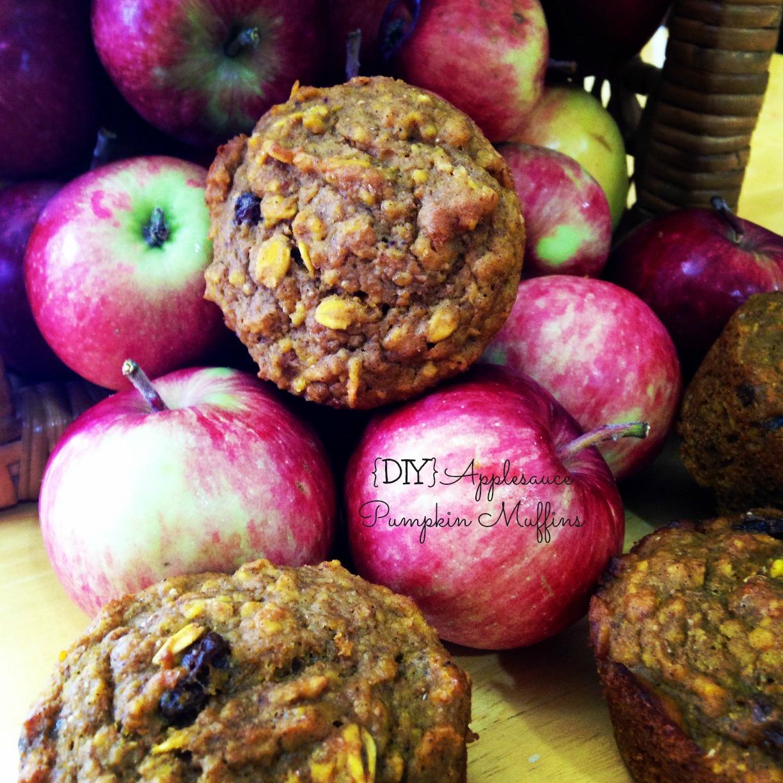 applesauce pumpkin muffins