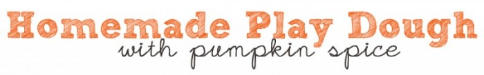 pumpkinp spice play dough
