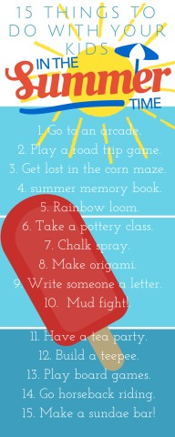 things to do with your kids in the summer time (part 8)