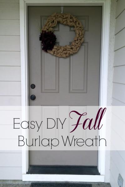 Easy DIY fall Burlap Wreath