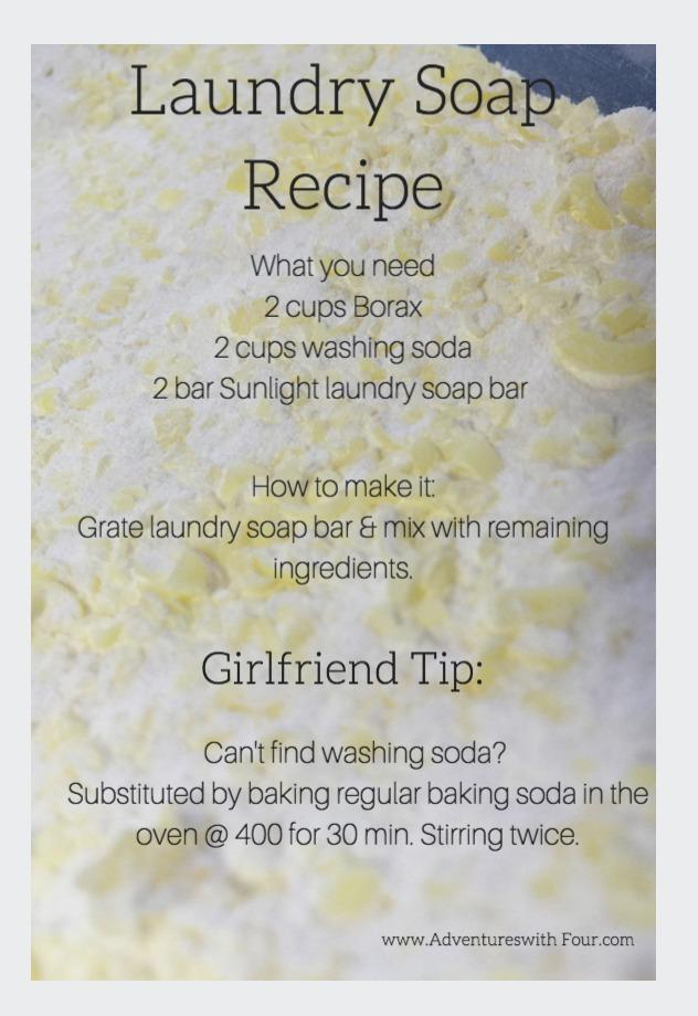 Homemade Laundry Soap Recipe