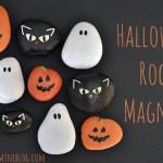 Halloween rock magnets