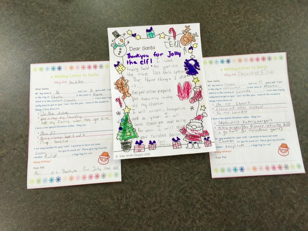 my kids write to santa