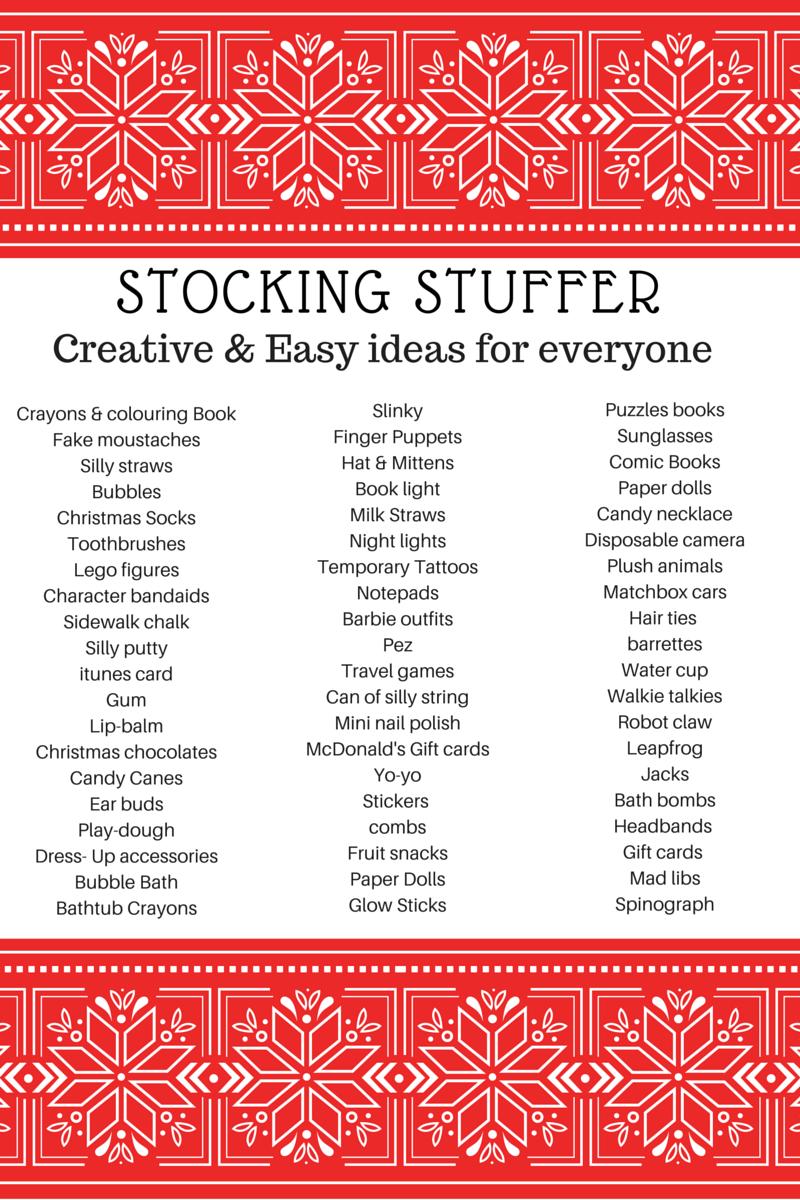 Stocking stuffer ideas 2015
