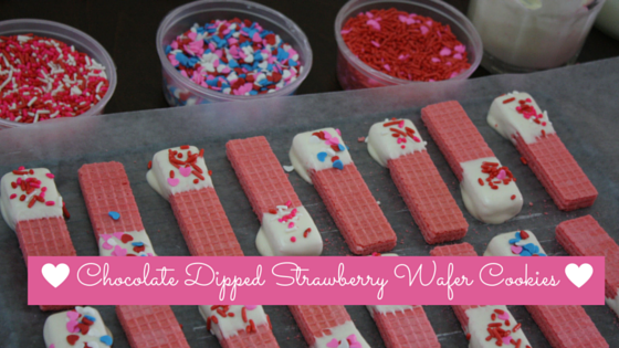 Chocolate dipped Strawberry wafer cookies