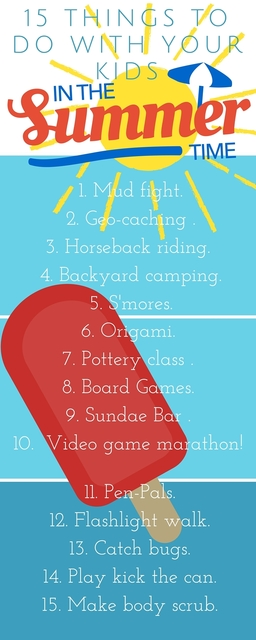 Things to do with your kids in the summer