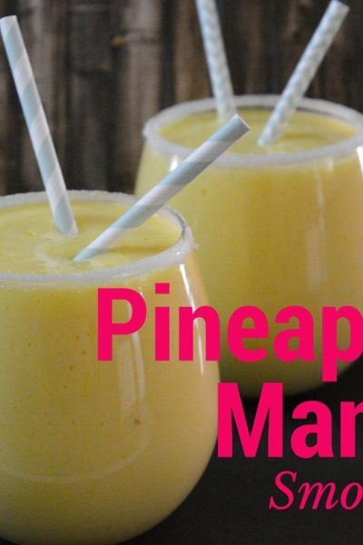 Cool off with this tropical Pineapple Mango Smoothie