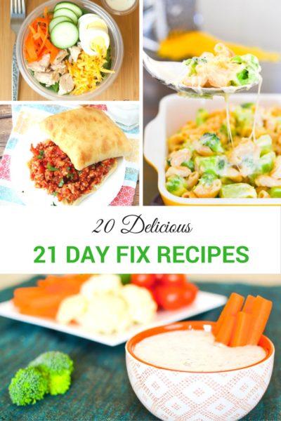 20 Delicious 21 day fix recipes