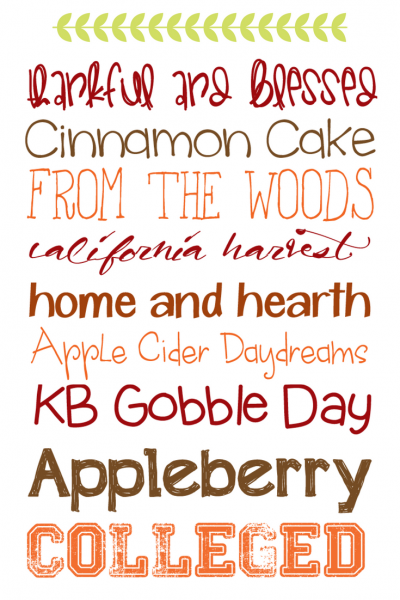 9 Warm & Cozy Fall Fonts
