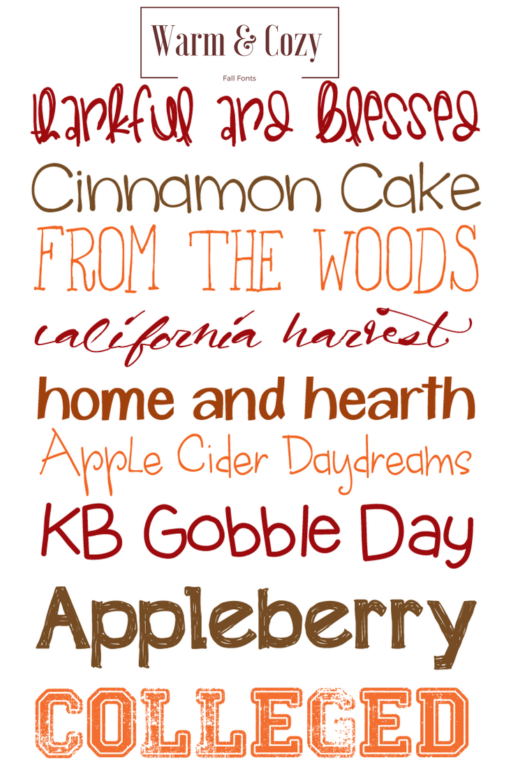 warm and cozy fall fonts