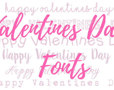 Valentines Day Fonts – a few of our favourites