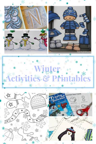 Winter Activities & Printables for preschoolers.