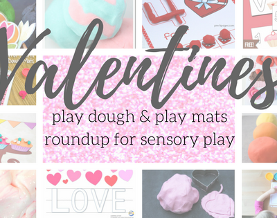 Valentines play dough & play mats roundup for sensory play
