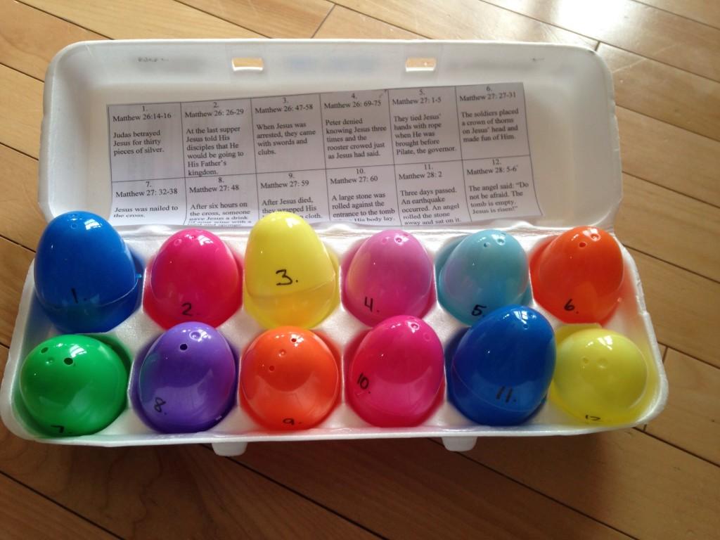 Easter Story Eggs