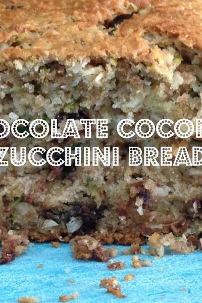 Zucchini loaf chocolate & Coconut heaven in a loaf