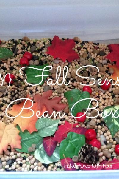 {DIY} Fall Sensory Bean Box