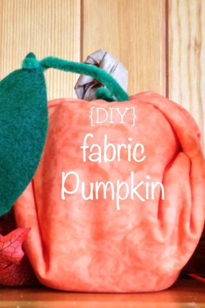 {DIY} Fabric Pumpkin in 5 easy steps