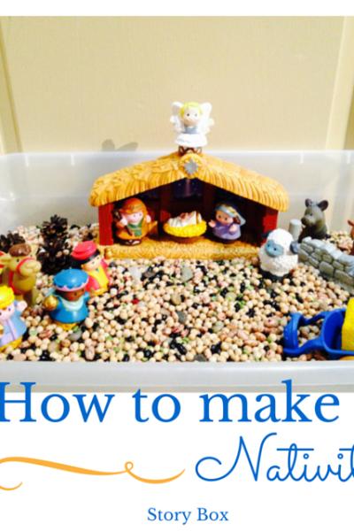 How to make a Nativity Sensory Bin