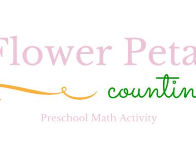 Flower Petal counting: Preschool math