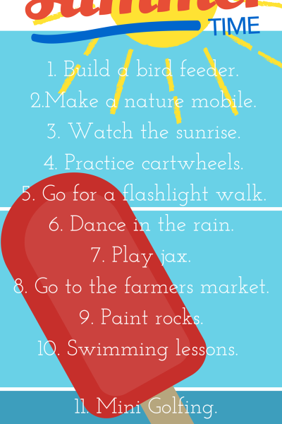 Part 3: 15 things to do with your kids in the summer