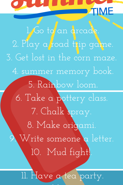 {Part 8} 15 things to do with your kids in the summer time