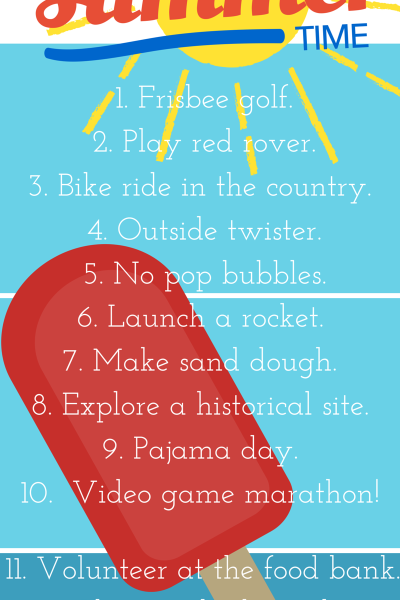 {Part 9} 15 things to do with your kids in the summer time
