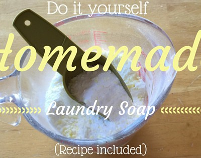 Do it yourself: Homemade Laundry Soap Recipe