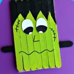 popsicle stick frankenstein