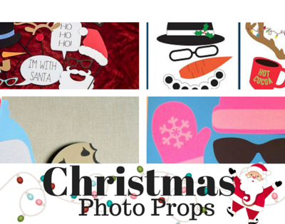 Christmas photo props for the selfie lover
