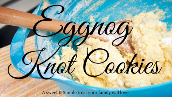 Eggnog knot cookies