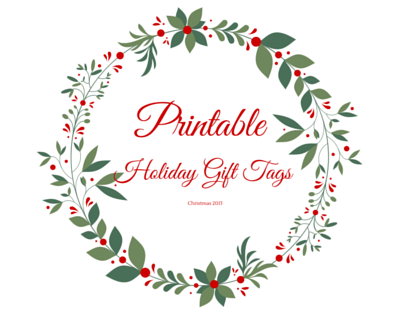 Let your printer do the work with these printable Holiday Gift Tags