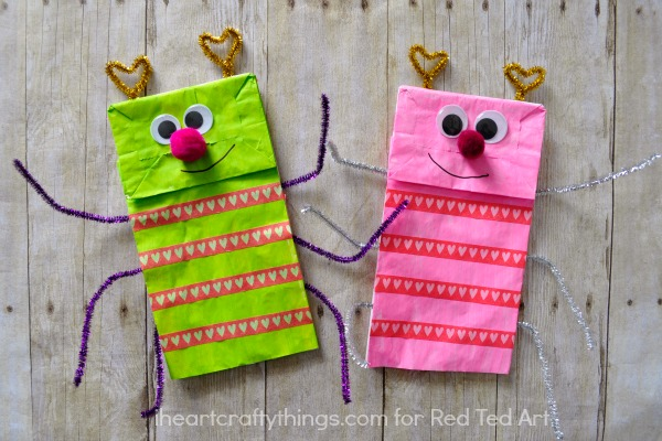 Paper-Bag-Crafts-adorable-love-bug-puppet-a-great ...