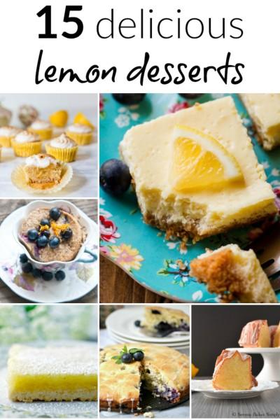 15 delicious lemon desserts