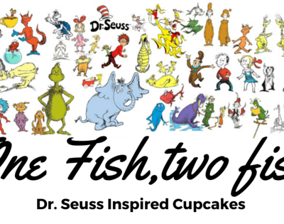 """One Fish Two Fish""Dr. Suess inspired cupcakes"