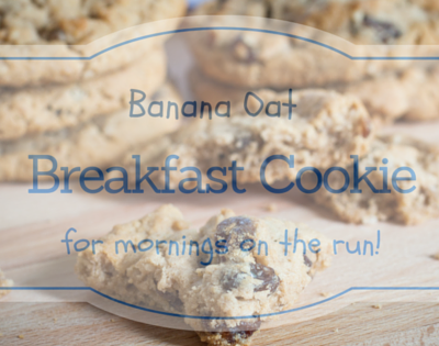 Banana oat cookies perfect for mornings on the run!