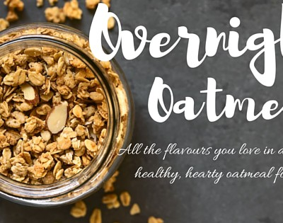 Apple Pie mason jar oatmeal- a busy mom's dream!