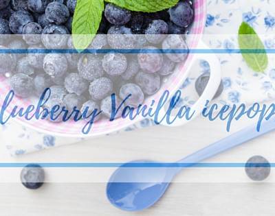 Fresh-from-the- Freezer Blueberry Vanilla ice pops