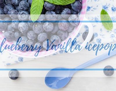 Fresh-from-the- Freezer Blueberry Vanilla ice pops