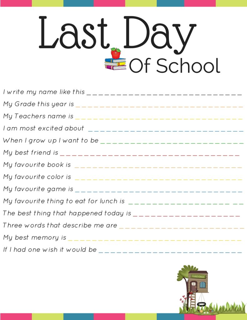 photograph about Last Day of School Printable named Adventures With 4