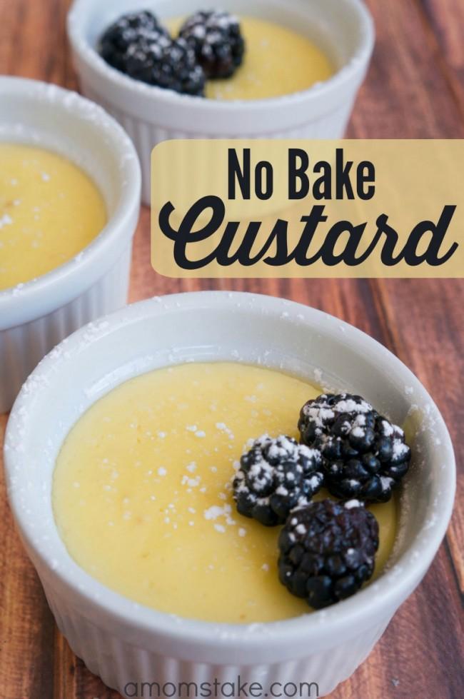 No Bake Custard