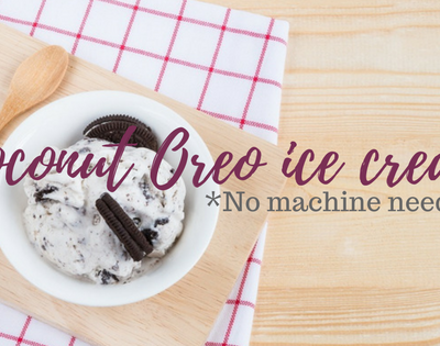 How to make delicious coconut Oreo ice cream without ice cream maker