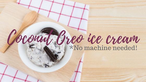 coconut Oreo ice cream