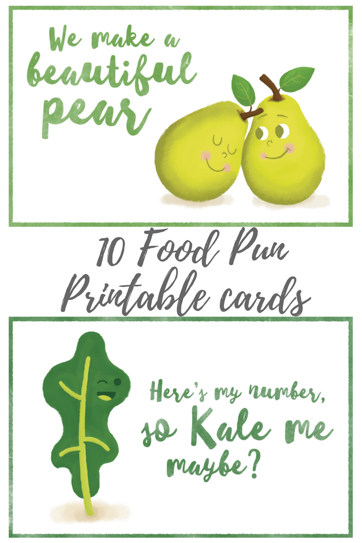 food pun printable cards