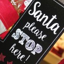 Santa please stop here!  Notify Santa before you head to the beach.