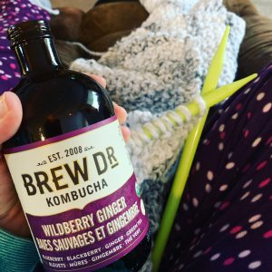 Self-Quarantined Knitting and Kombucha
